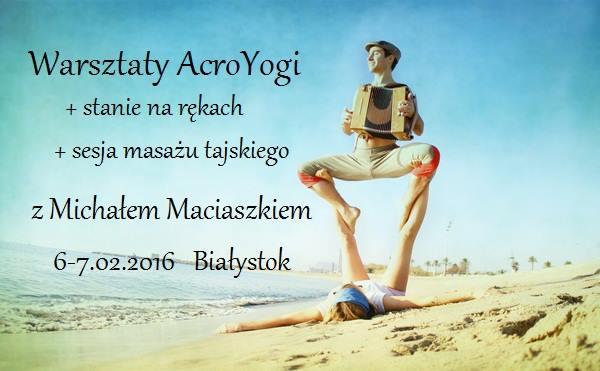 AcroYoga & Handstand warsztaty w Baiłymstoku