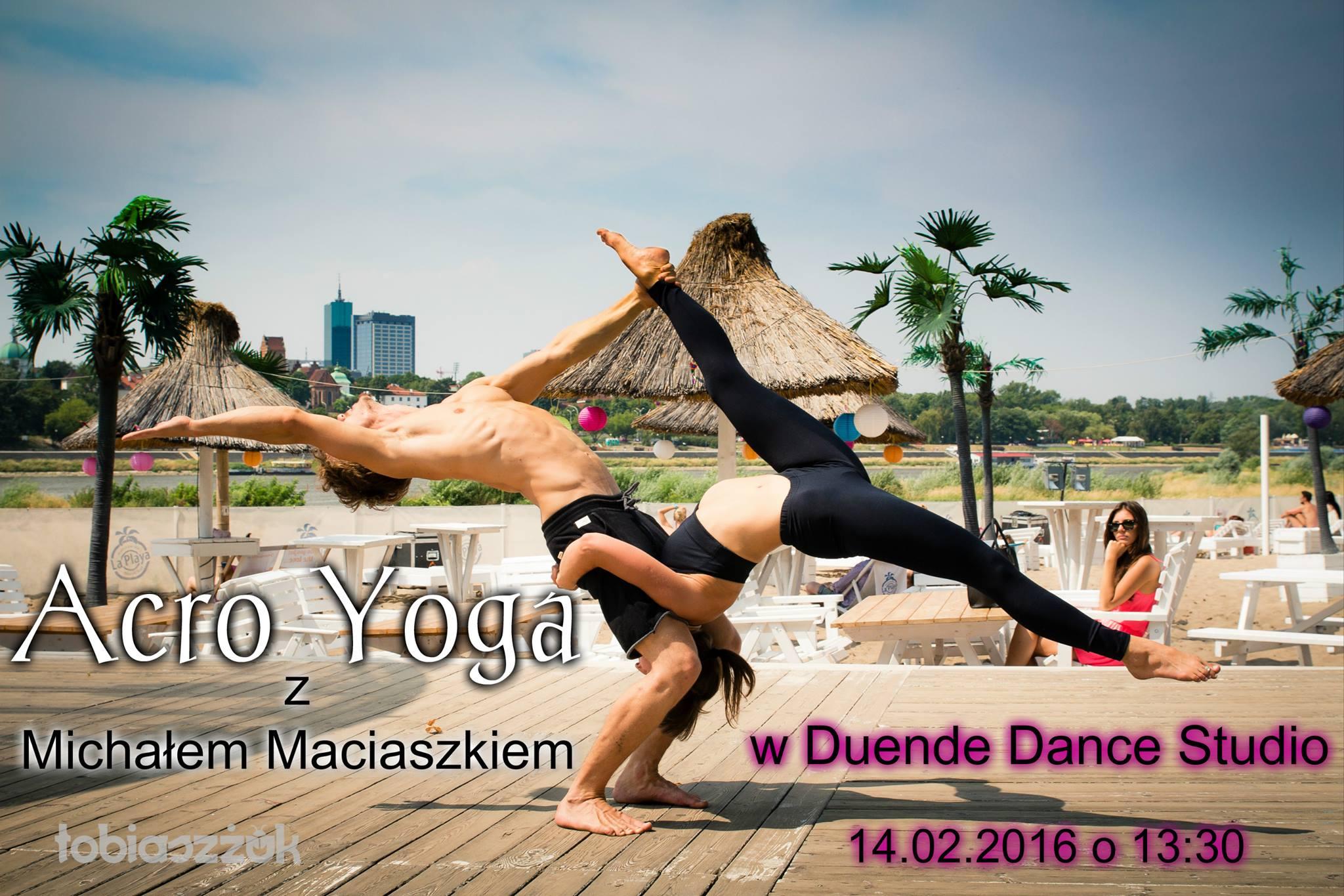 AcroYoga Warsztaty w Warszawie (Duende Dance Studio) 14.02.2016